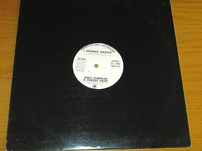 """LOT of 2 80's PROMO 12"""" SINGLEs - ANDY SUMMERS - A&M LABEL - """"I ADVANCE MASKED"""""""