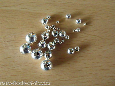 925 SOLID STERLING SILVER ROUND SEED BEADS 4 & 5 mm FOR JEWELLERY MAKING/REPAIRS