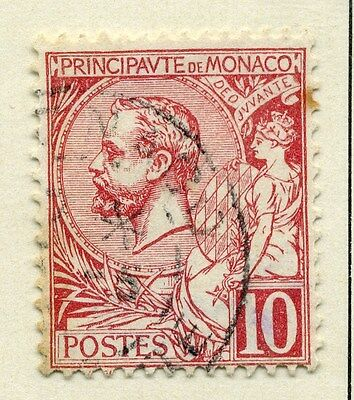 MONACO;  1891 early classic Albert issue fine used  10c. value