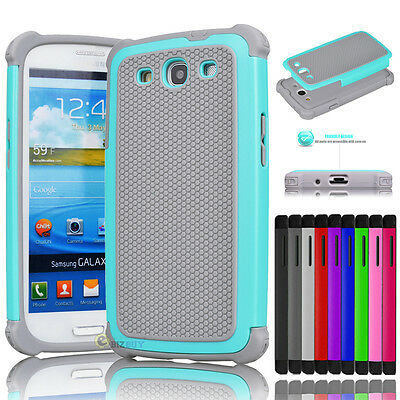 For Samsung Galaxy S3 III i9300 Hybrid Rugged Impact Rubber Hard Skin Case Cover