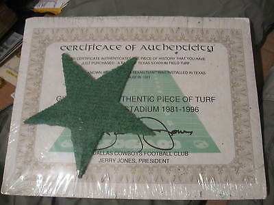 Dallas Cowboys official Texas Stadium Field Turf  SIGNED BY JERRY JONES