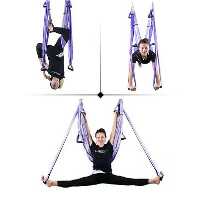 Multi-function Bearing Deluxe Dichromatic Adjustable Yoga Swing Aerial Hammock