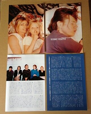 2002 Sonic Youth Kim Thurston & Coco 6pg 2 photo JAPAN mag article /clipping 07r