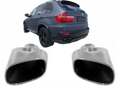 BMW X5 E70 07+ Exhaust Muffler Tips M LCI Facelift  Performance Look Tail Pipes