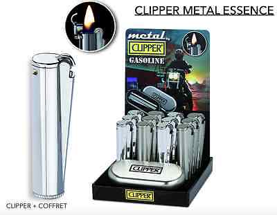 Briquet Clipper Metal Essence Lighter + COFFRET Gasoline Bic CLIPPER SHIP WORLD