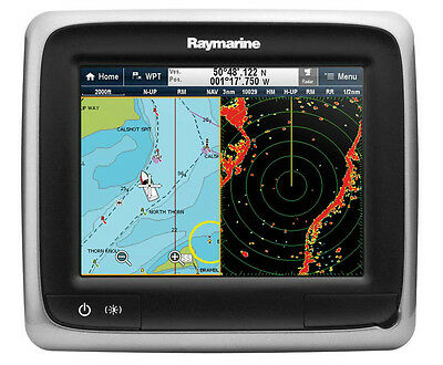"Raymarine A67 5.7"" Multifunction Display With Fish Finder Gold Chart Australia"