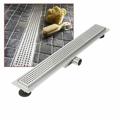 """800mm Stainless Steel Long """"Rectangular"""" Wetroom / Shower Drainage System"""