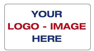 65 x Personalised Business Name Stickers ANY IMAGE Seals Your Logo Labels  -553