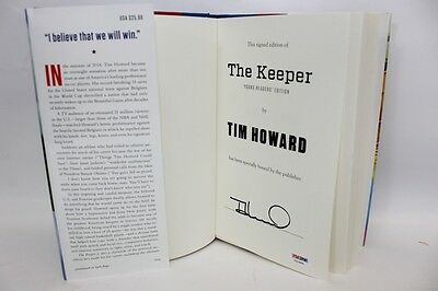 """Tim Howard Autographed Book """"The Keeper"""" PSA/DNA COA"""