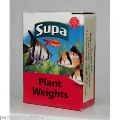 Supa plant weights X 10 lead strips for weighting live plants aquarium fish tank