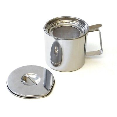 RSVP Grease Keeper Bacon Oil Strainer 4 Cup Stainless Steel Fryers Friend ST40FF