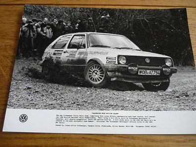"Vw Volkswagen Golf Gti Group A Rally Original Press Photo  ""sales Brochure"""