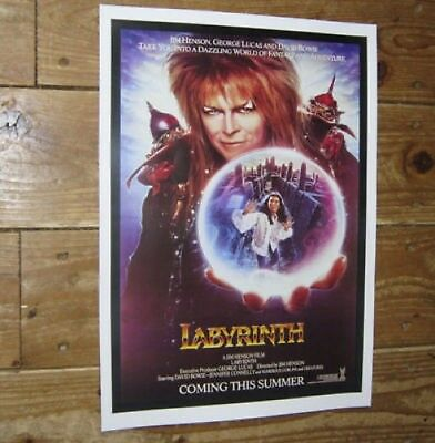 David Bowie Labyrinth Repro Film POSTER