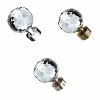 Speedy Poles Apart 28mm Bella Curtain Pole Finials Glass Ends, 2 Pack 3 Colours