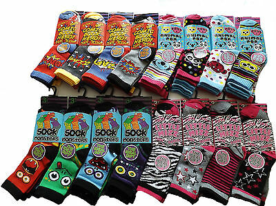 Boys and Girls Children Kids Socks Designer Character Cotton All Size Pack of 3