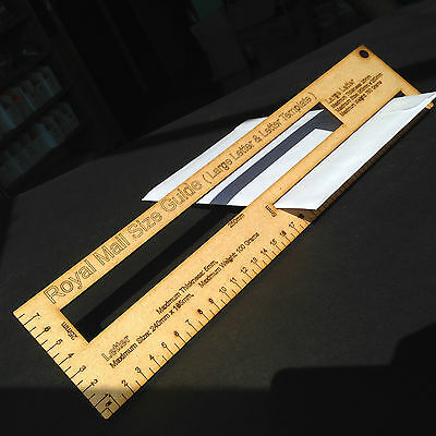 Royal Mail Postage / Postal Letter Template Size PPI Guide  Package Ruler Office