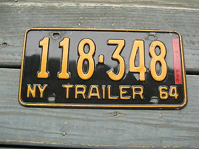 1964 64 1965 65 New York Ny Trailer Worlds Fair License Plate Buy It Now Nice