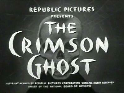 The Crimson Ghost 1946 12 Chapter Movie Serial DVD Clayton Moore