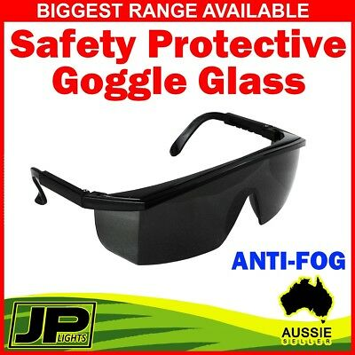 Safety Protective Goggle Glasses Eye Protection From Lab Dust AntiFog Black Lens