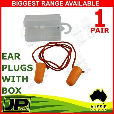1 Pair Disposable Foam Ear Plug Noise Reducer Corded Individual Box
