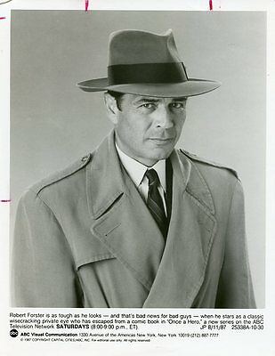 Robert Forster Portrait Once A Hero Original 1987 Abc Tv Photo
