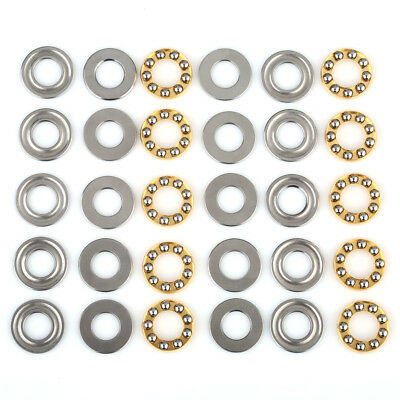 10packs(30pcs) Axial Ball Thrust Bearing F 8-16M 8 mm*16 mm*5 mm 8× 16× 5mm