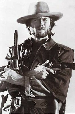 Clint Eastwood POSTER Dirty Harry Western Movie Cowboy Revolver Six Shooter NEW