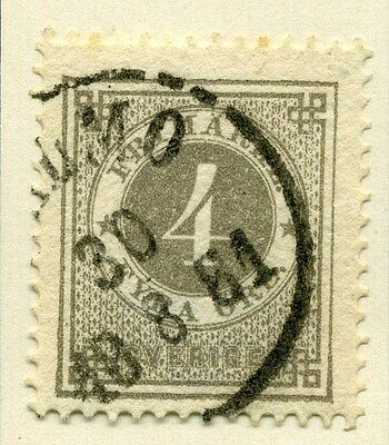 SWEDEN;  1872 early classic ' ore ' issue fine used 4ore. value