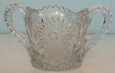 Great! Millersburg Glass - Crystal Hobstar And Feather Spooner