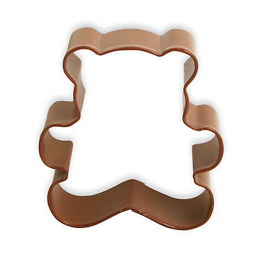 Eddingtons Brown Teddy Bear Cookie Cutter - Pastry and Biscuit Cutter Metal 8cm