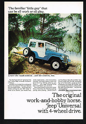1965 Jeep Universal 4WD Photo Leave The Roads Vintage Print Ad