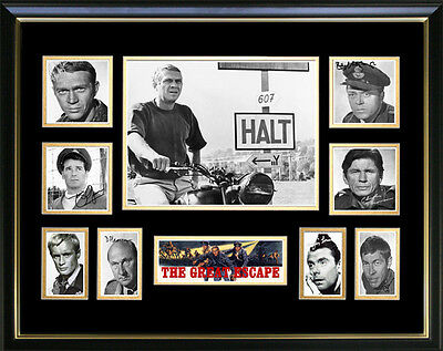 New The Great Escape Signed Framed Memorabilia