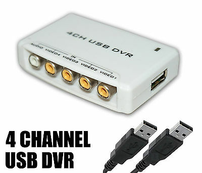 J7A USB Laptop PC 4 CHANNEL Video Recorder ADAPTER CCTV Camera DVR Capture RCA