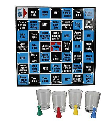 Novelty Dice Drinking Party Game Includes 4 Glasses & Game Field (79/4042)