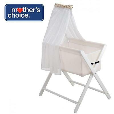 Mother's Choice Coco Bassinet Folding Bed Cot Crib Infant Baby Bassinette White