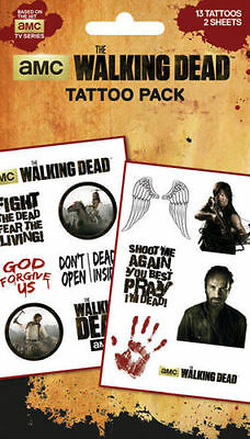 The Walking Dead Characters Temporary Tattoo Pack