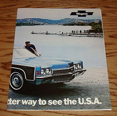 Original 1972 Chevrolet Wagon Facts Features Sales Sheet Brochure 72 Chevy