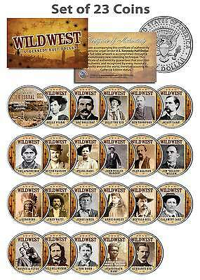 WILD WEST / OLD WEST OUTLAWS Complete Set of 23 U.S. Mint JFK Half Dollar Coins