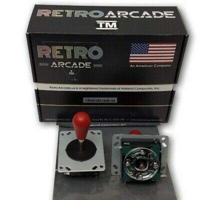 RetroArcade.us Competition Style Arcade Joystick RED Top 4 or 8 Way switchable