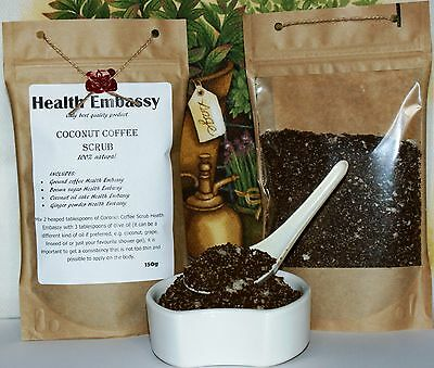 Coconut Coffee Scrub 150g with Ginger - Health Embassy 100% Natural