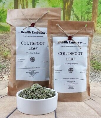 Coltsfoot Leaf 50g ( Tussilago farfara ) Health Embassy 100% natural