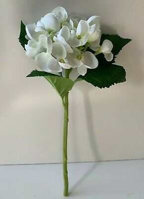 6X Bulk Artificial Flower Wedding Silk Cream White Hydrangea Short Stem 32Cm