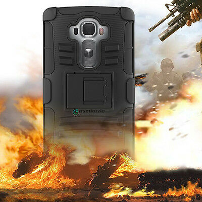 Shockproof Hybrid Armor Impact Hard Phone Case Kickstand Holster Belt Clip Cover