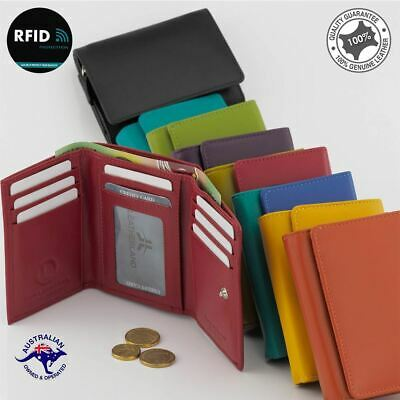 RFID Ladies Women's Genuine Leather Medium/Small Multi Colours Wallet/Coin Purse