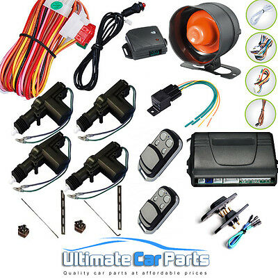 Remote Central Locking Kit And Car-Van Alarm With Immobiliser 4 Door inc Sliding
