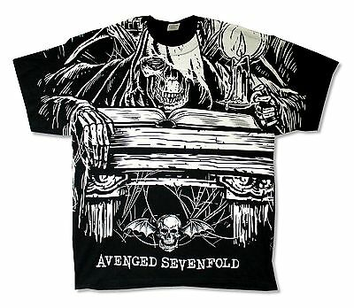 Avenged Sevenfold Alchemist All Over Print Black T-Shirt New Official Adult A7X