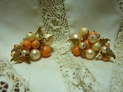 vintage 1940's 50's MARIAM HASKELL CLIP  earrings unsigned BEAUTIFUL
