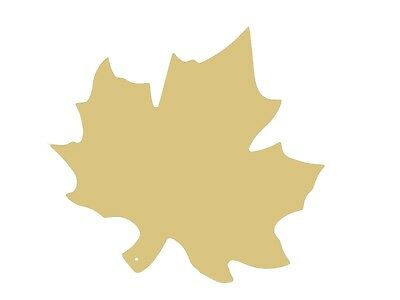 Maple Leaf Unfinished Wood Shape Cut Out Variety Sizes USA Made Tree home decor