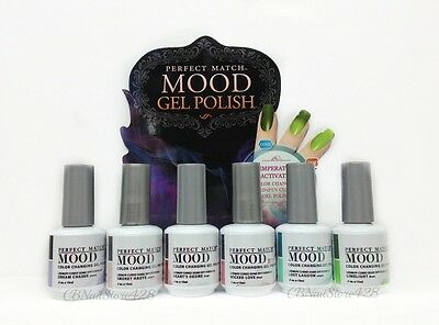 LECHAT Perfect Match MOOD Color Changing Gel Polish - ALL MPMG37-42 Collection