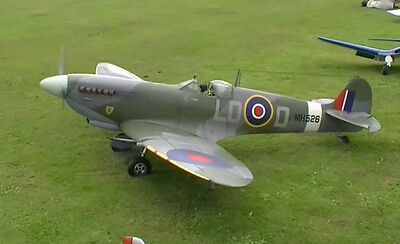 Giant 1/4 Scale SPITFIRE scratch build R/c Plane Plans 111 in. wing span
